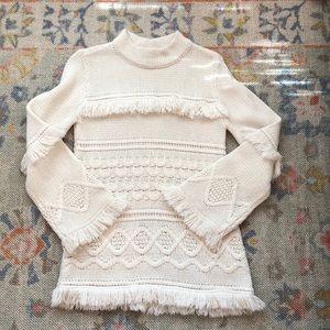 BB Dakota fringe sweater sz large